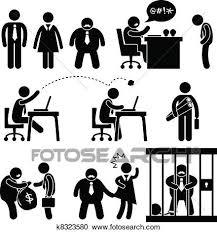 icone bureau clipart affaires drôles bureau patron icône k8323580