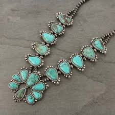 real turquoise necklace images Turquoise squash blossom necklace ebay JPG