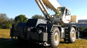 1999 terex rt 175 75 ton rough terrain crane youtube