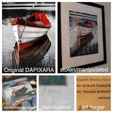 stolen dapixara red boat artwork found in wellfleet gallery the
