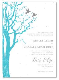 Love Bird Wedding Invitations Winter Birds Wedding Invitations On White Seeded Paper By