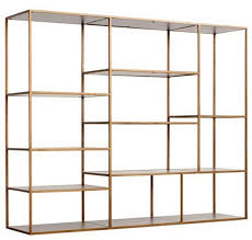 Gold Bookshelves by Bookcases That Combine Top Shelf Design And Utility