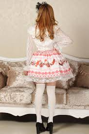 angela pretty baby pink candy skirt cute cake printed japan