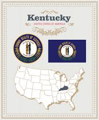 kentucky flag map state flag of kentucky the bluegrass stateamericanflags