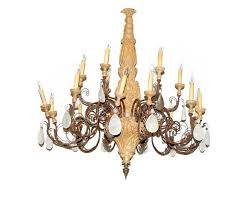 Antique Rock Crystal Chandelier Antique Rococo Style Six Light Glass And Crystal Prism Chandelier
