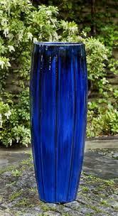 mardi planter in riviera blue by campania international pots