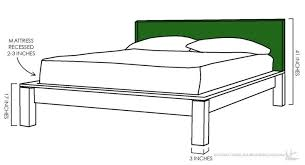 Diy King Platform Bed Plans by Bed Frames Diy King Size Bed Frame Plans Platform King Size Bed