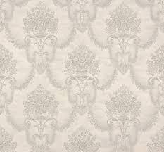 wallpaper ornaments rasch trianon white silver 514940