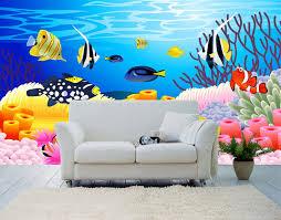 tapisserie chambre bébé wallpaper fish décoration chambre bébé paysage fond marin poisson