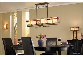 Linear Chandelier Dining Room Kichler Lighting Tacoma Collection Craftsman Dining Room Kichler