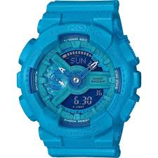 light blue g shock watch casio g shock s series gmas110vc 2acr watch bright vivid light blue