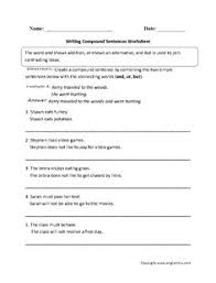 simple or compound sentence worksheets sentences simple and
