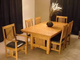 arts and crafts extension dining table and chairs finewoodworking