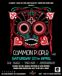 event common people 2 sat 27th april tatler feat tom one