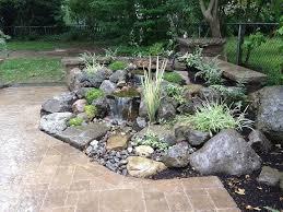 Rock Garden Waterfall Landscape Garden Design Waterfalls Water Feature Patio Sitting