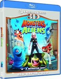 monsters aliens 3d 3d blu ray 2d blu ray dvd blu ray