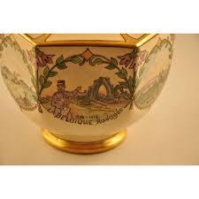 porcelaine peinte main urne à pot pourri canadienne ancienne peinte à la main sur