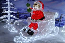 Large Christmas Decorations For Outside by 2015 Outdoor Christmas Decorations Of Sleigh And Santa Claus Buy