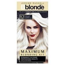 lightened front hair jerome russell b blonde lightening kit med dark superdrug