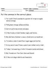 ideas collection comma worksheets ks2 for your description