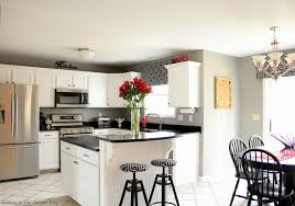 remodeled kitchens with white cabinets black and white kitchen remodel with painted cabinets