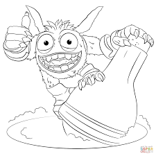 skylanders giants pop fizz coloring page free printable coloring