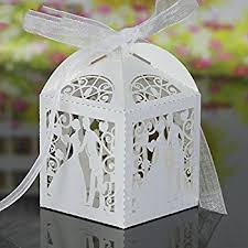wedding candy favors 50 pack white birds laser cut favor candy box