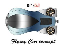 grabcad flying car concept sketch sketchbook practice autocad