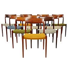 Woven Dining Chair Niels Otto Moller Rosewood Dining Chairs In Original Woven