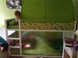 ikea kura bed hack and garden bedroom makeover lauren s bed how to hack an ikea kura bed and create a garden themed bedroom