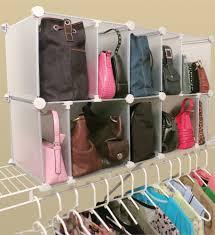 arrangement park a purse closet organizer with 10 cubbies
