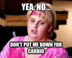 Cardio Meme - the facts on fasted cardio kayla fassio fit