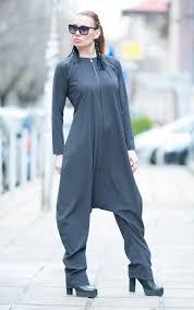 zipper jumpsuit s georgette jumpsuit zipper jumpsuit drop crotch harem