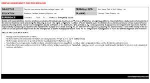 emergency doctor cover letter u0026 resume