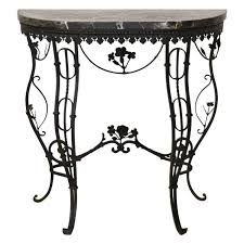 Wrought Iron Console Table Regency Style Italian Wrought Iron Console Table With