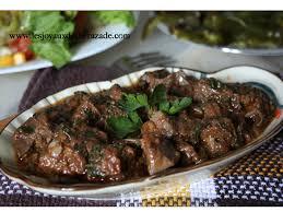 cuisiner du foie foie en sauce kebda mchermla les joyaux de sherazade