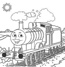 thomas train landscape drawings colouring kids activities