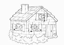 pigs wolf coloring pages coloring download