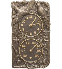 Patio Clock And Thermometer Sets by Outdoor Clocks And Outdoor Thermometers Organize It