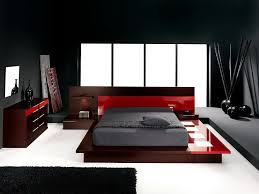 red acrylic low profile bed frame with grey mattress cover also