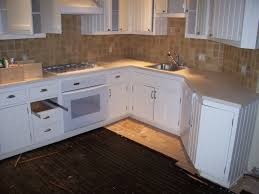 Unfinished Kitchen Cabinet Doors by Kitchen Square Backsplash Tile Model Closed Gas Stove Near Single