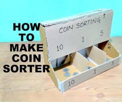 coin counter how to make a coin sorter with cardboard 5 steps with pictures