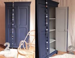 meuble penderie chambre armoire parisienne penderie chambre enfant bleu nuit gris clair