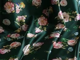 Bird Print Curtain Fabric China Fabric Birds Rose Flower Digital Print Satin Fabric For