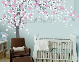 Cherry Blossom Tree Wall Decal For Nursery Nursery Wall Decal Wall Decal Nursery Blossom Tree Decal