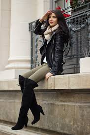 ladies black leather biker boots how to wear olive leggings with black and white boots women u0027s