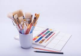 artists painting and drawing materials stock photo image 46876375