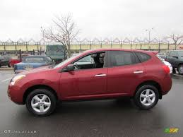 nissan rogue exterior venom red 2010 nissan rogue s awd 360 value package exterior photo