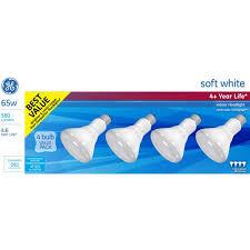65 Watt Flood Light Ge Soft White 65 Watt R30 Floodlight 4 Pack Walmart Com