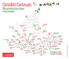 Christmas Map Mapping Canada U0027s Merriest Sites Canadian Geographic